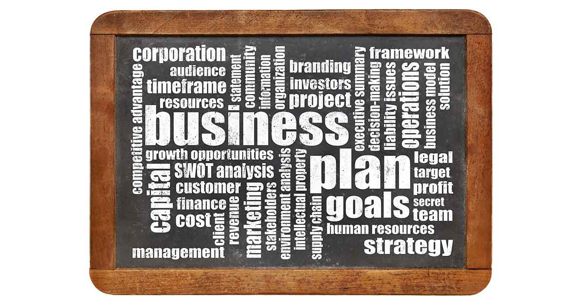sections of a business plan gcse